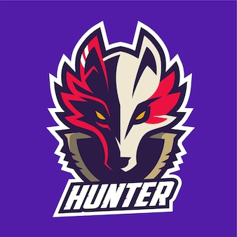 Logotipo de fox hunter esport
