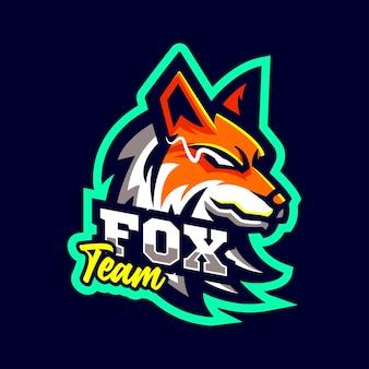 Logotipo de fox wolf mascots estilo deportivo