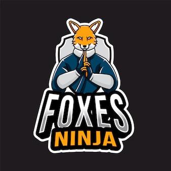 Logotipo de foxes ninja esport