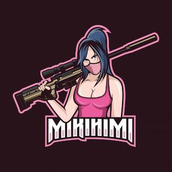 Logotipo de francotirador esport