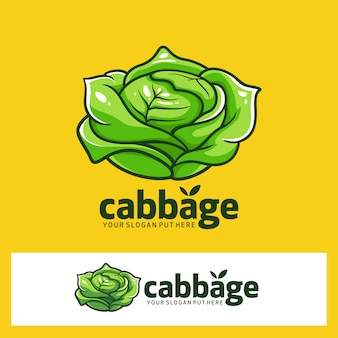 Logotipo de fruta de col