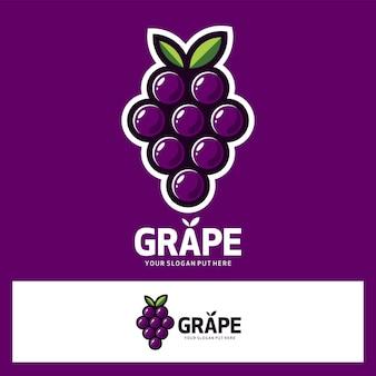 Logotipo de fruta de uva