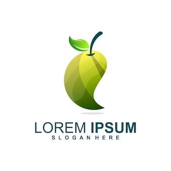 Logotipo de fruta verde