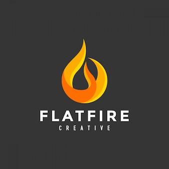 Logotipo de fuego llama abstracta