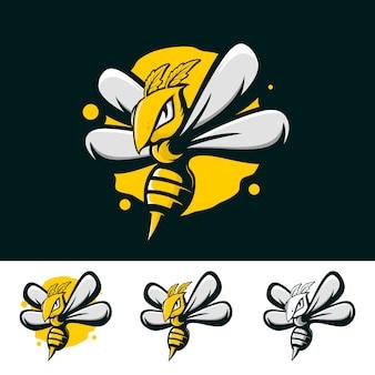 Logotipo fuerte de abeja