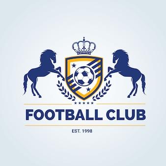 Logotipo de fútbol, logotipo de fútbol, logotipo del equipo deportivo, vectortemplate