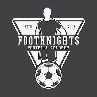 Logotipo de fútbol o fútbol.