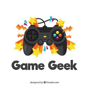 Logotipo de gaming con estrellas