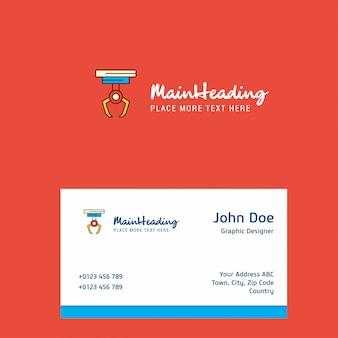 Logotipo de gancho con plantilla de tarjeta de visita. elegante identidad corporativa. -