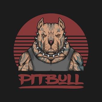 Logotipo de gángster pitbull