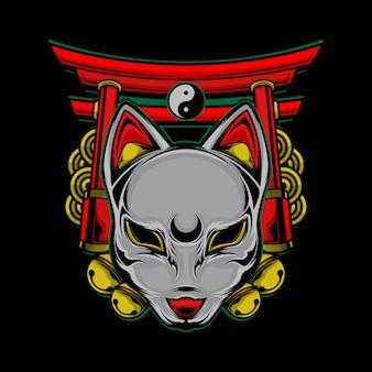 Logotipo de gato japonés