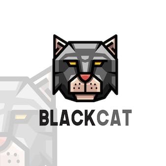 Logotipo de gato negro