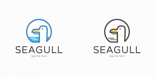 Logotipo de gaviota simple