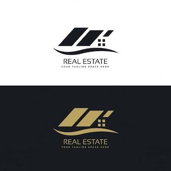 Logotipo geométrico negro y dorado