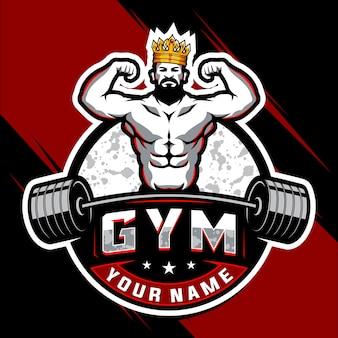 Logotipo de gimnasio y culturismo rey