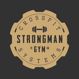 Logotipo del gimnasio, emblema