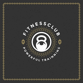 Logotipo de gimnasio fitness