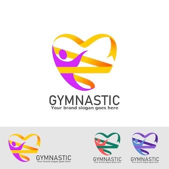 Logotipo gimnástico personas