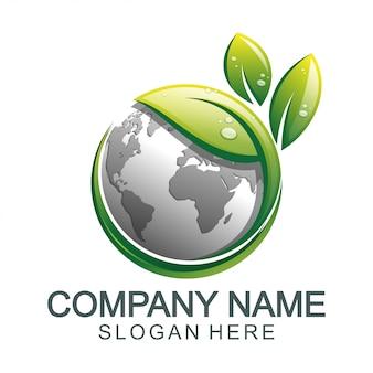Logotipo global de tierra verde
