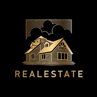 Logotipo de golden golden real estate