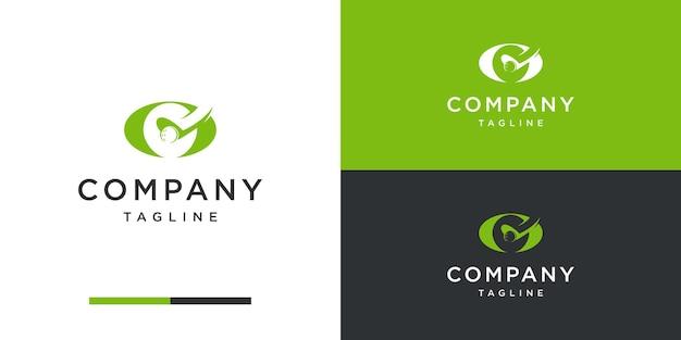 Logotipo de golf con plantilla de diseño inicial g