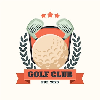 Logotipo de golf vintage detallado