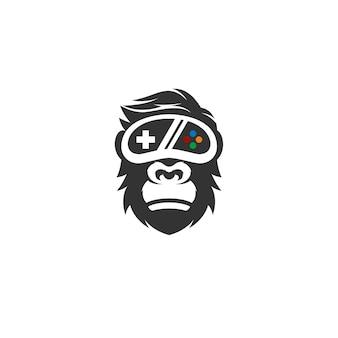 Logotipo de gorila geek