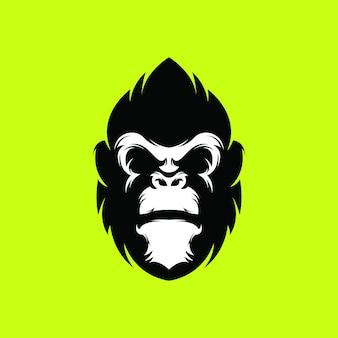 Logotipo de gorila premium