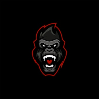 Logotipo de gorilla esport