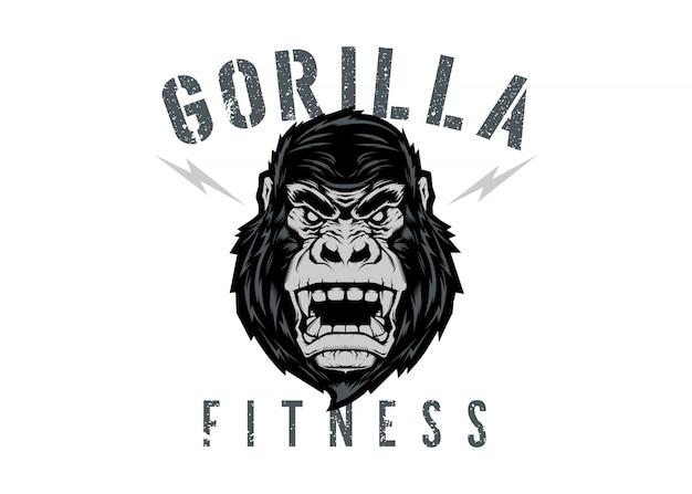 Logotipo de gorilla fitness
