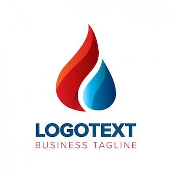 Logotipo de una gota en estilo brillante