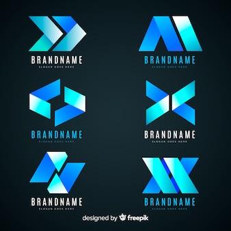 Logotipo gradiente abstracto