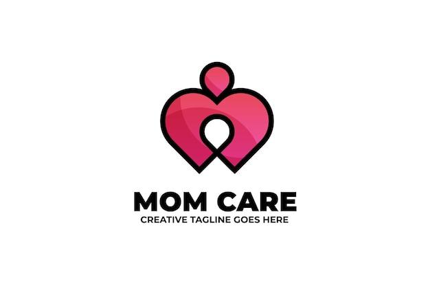 Logotipo de gradiente de cuidado de la salud de la madre