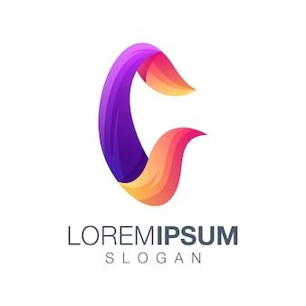 Logotipo de gradiente de letra c