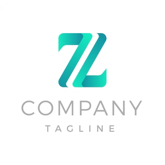 Logotipo de gradiente moderno letra z