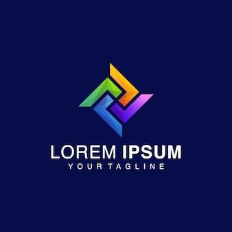 Logotipo gradiente rhombus