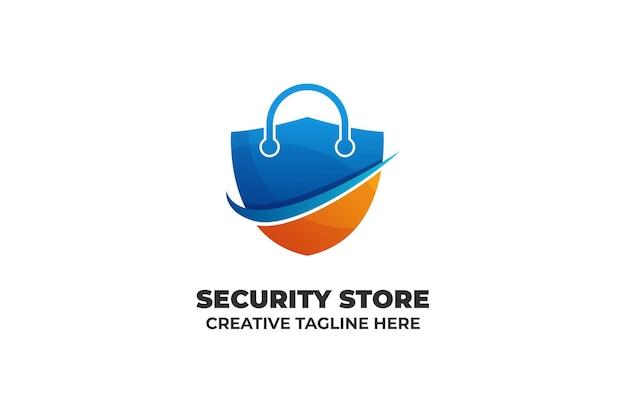 Logotipo de gradiente de seguridad de candado de seguridad