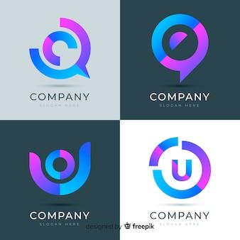 Logotipo gradiente de tecnología