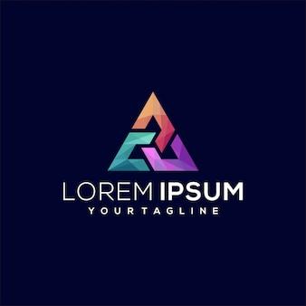Logotipo gradiente triángulo