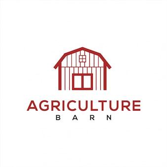 Logotipo de granero para la industria agrícola.