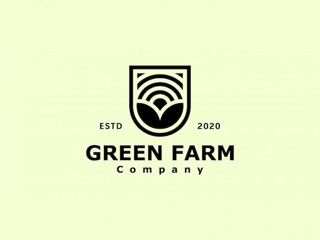 Logotipo de granja agronomía vintage