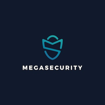 Logotipo del guardia de seguridad de ms