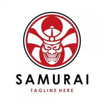 Logotipo de guerrero samurai japonés