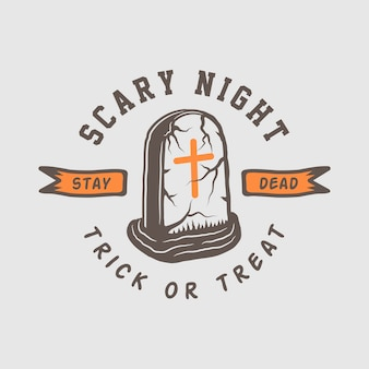 Logotipo de halloween, emblema, insignia