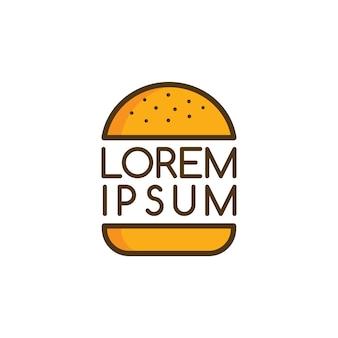 Logotipo de hamburguesa grande logotipo tema vectorial de alimentos
