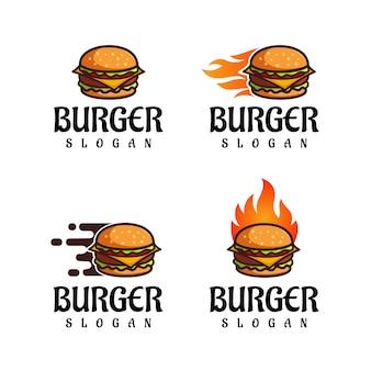 Logotipo de hamburguesa para restaurante de comida rápida