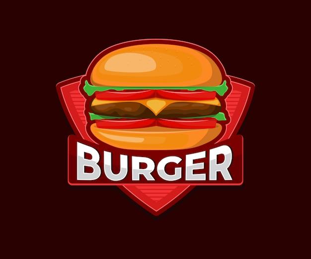 Logotipo de hamburguesa para restaurante de comida rápida.