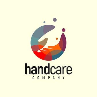 Logotipo de handcare colorido