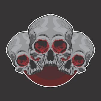 Logotipo del hermano del cráneo