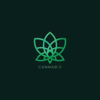 Logotipo de hierba de cannabis